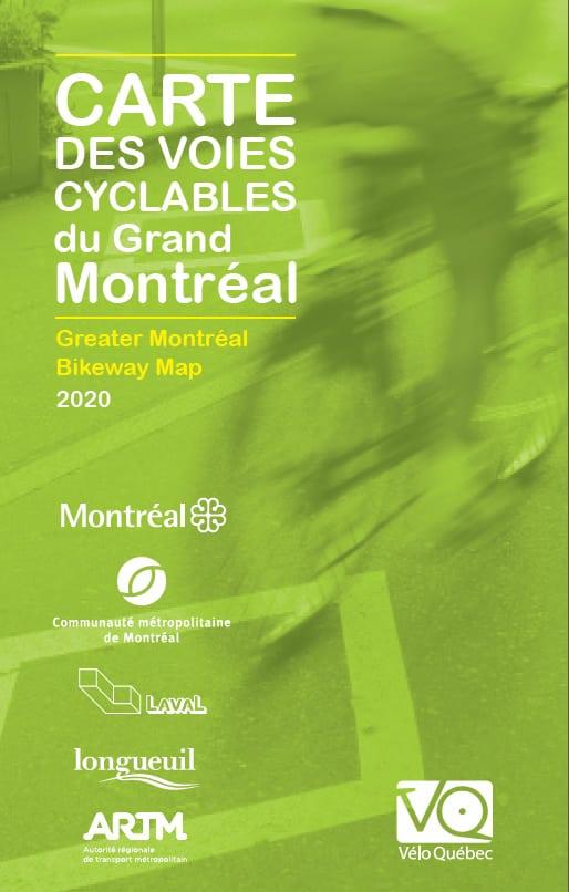 Carte du montréal cyclable 2020